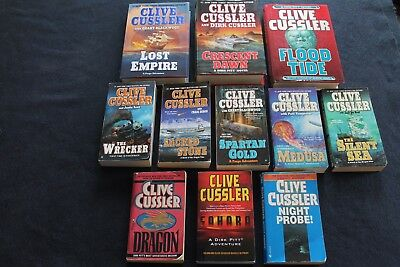Clive Cussler Book Lot of 11