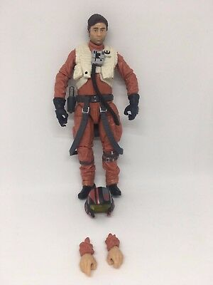 "Star Wars The Force Awakens Black Series 6"" Figure Poe Dameron Complete #07"