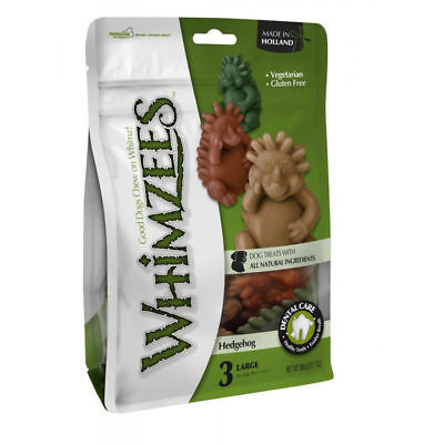 Whimzees Hedgehog Extra Large 3 Pack - Healthy Vegetarian Gluten Free Dog Chews