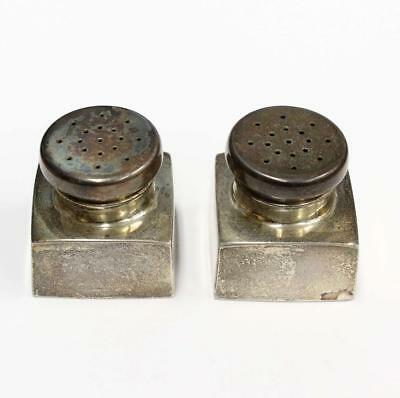 B & M repro of George Washington sterling silver salt and pepper shakers 64.2 gr