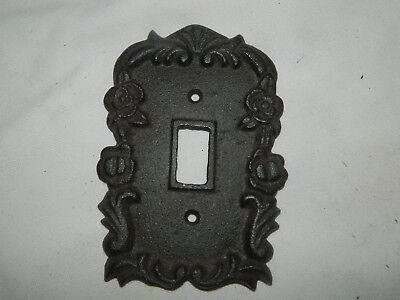 Rustic Cast Iron Ornate French Single Light Switch Outlet Plate Cover