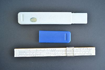 Geotec Sun Hemmi Slide Rule 341 3526 with Hard Case Japan Vintage 9 Scales