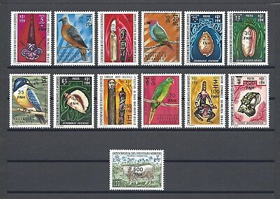 NEW HEBRIDES 1977 SG F234/46 MNH Cat £50