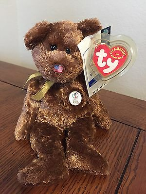 FIFA TY Bear Beanie Babies CHAMPION World Cup Soccer 2002 Korea Japan Original