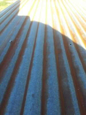 """Vintage Metal CORRUGATED TIN metal apprx 26"""" x 12"""" reclaimed ceiling roof sheet"""