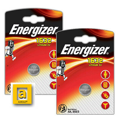 2 x Energizer 1632 CR1632 3V Lithium Coin Cell Battery KCR1632 DL1632 BR1632