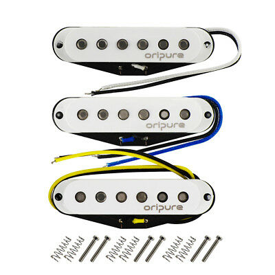 OriPure Alnico 5 Strat SSS Guitar Single Coil Pickups Staggered N/M/B Pickups