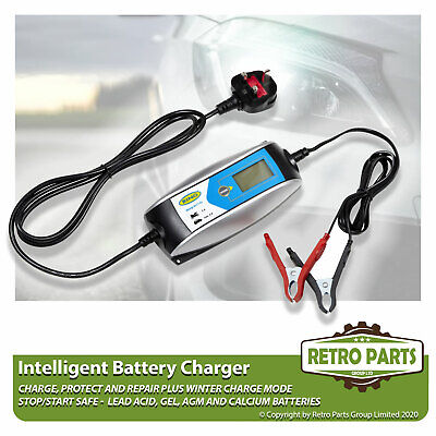 Smart Automatic Battery Charger for Fiat 850 Spider. Inteligent 5 Stage