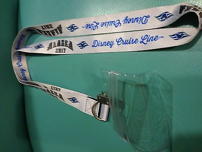 Disney Cruise Line LANYARD Alaska 2017 ID Holder DCL Wonder Capt Mickey *NEW*