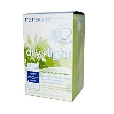 Natracare Dry And Light Individually Wrapped Pads - 20 Pack 3 Pack