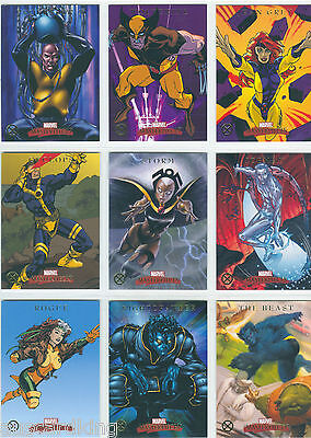 Marvel Masterpieces Series 1 - Complete Chase Card SET (9) - X-Men - 2007 - NM