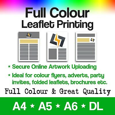 Full Colour Leaflets and Printed Flyers - A4, A5, A6 and DL Printing FROM £6.99