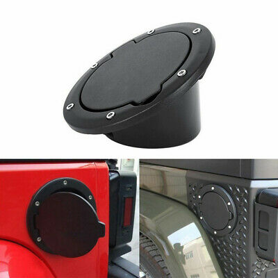 1× Fuel Filler Door Cover Gas Tank Cap For Jeep Wrangler JK Unlimited Decoration