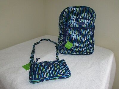 Vera Bradley Katalina Showers Campus Backpack Little Hipster Purse Bag LOT 2 NEW