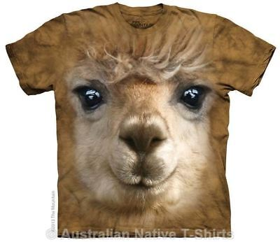 Alpaca Face T-Shirt in Adult Sizes - Animal Faces by The Mountain T-Shirts