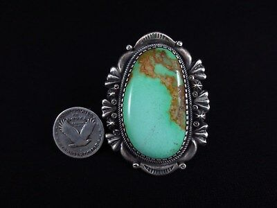 Navajo Ring - Huge Sterling Silver and Turquoise