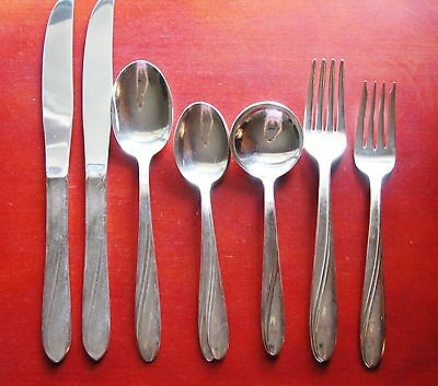 Victor Silver Plate 9 Piece Set of Flatware - Vintage 1920's