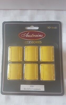 Austrains HO scale LCL CONTAINERS - YELLOW - 6 PACK - NEW