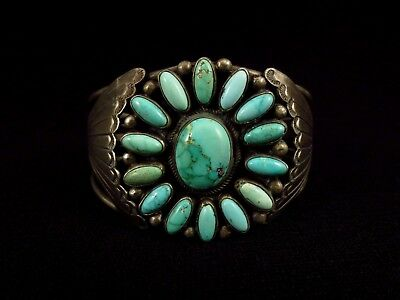 Navajo Bracelet - Sterling Silver and Turquoise