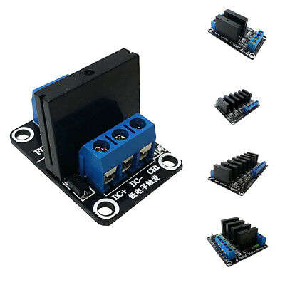 High-level Trigger Solid State Relay Module Fuse Black Board DC 5V,12V,24V