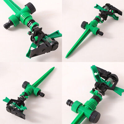 Garden Metal Spike Lawn Grass 360 Degree Water Nozzle Sprinkler Fitting
