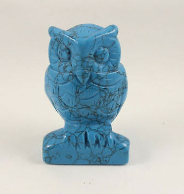 Turquoise carve Owl statue Hand Carved Owl,Gemstone