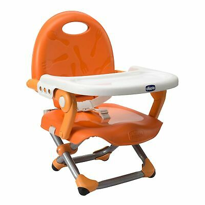 Chicco Pocket Snack Portable Travel Table Booster Seat Chair - Mandarino Orange