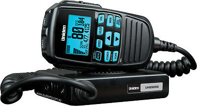 UNIDEN UH8060S 5w 80 CHANNEL LCD SPEAKER MIC UHF RADIO 24V CONVERTOR INCLUDED