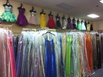 LOT of 10 (Sizes 10-12-14) PROM HOMECOMING SOCIAL FORMAL DRESSES NWT $2000+VALUE