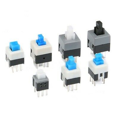 5.8-8.5mm Mini Self-Locking/Non-self-locking Square Push Button Switch 6 Pin PCB