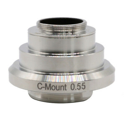 0.55X C-Mount CCD Camera Adapter Port Reducing Relay Lens for Leica Microscope