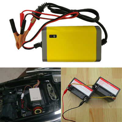 Full Automatically 12V 2A Car Motorcycle Lead Acid Battery Charger US Plug kits
