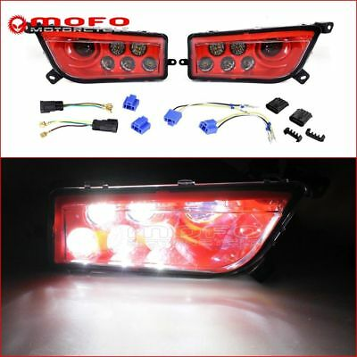 Pair Red LED Headlights Replacement For Polaris RZR S 1000 & RZR 900 2014-2017