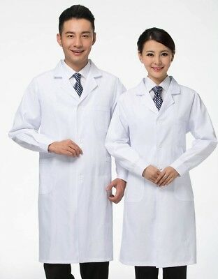 White Lab Coat Laboratory Warehouse Doctor Medical Food Hygiene Work Wear