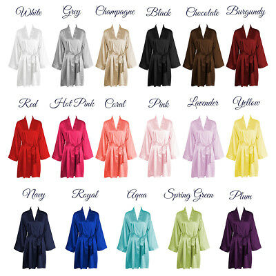 USA SELLER SILK Kimono Robes Bathrobe perfect for bridal party bachelorette gift