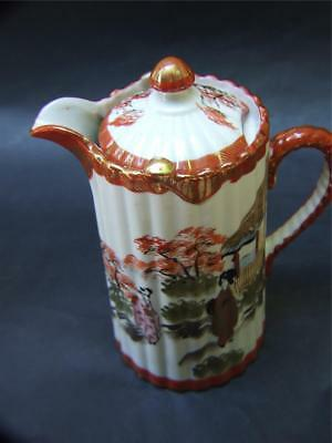 Antique Japanese Kutani Geisha Chocolate/coffee Pot Sign C.1900