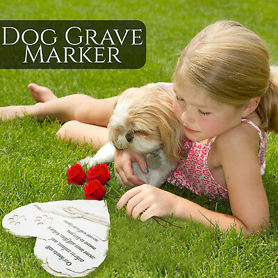 Dog memorial garden stone or grave marker. Thoughtful pet loss sympathy gift