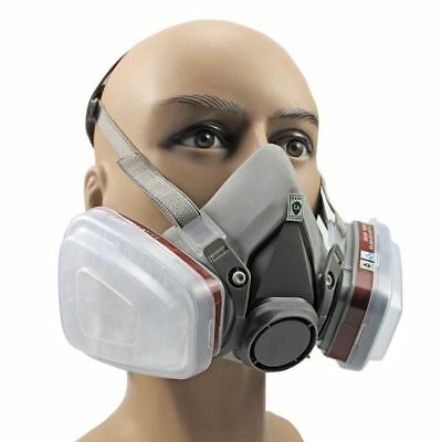 Half Face Dust Gas Mask Respirator Safety Painting Spraying For 6200 2017