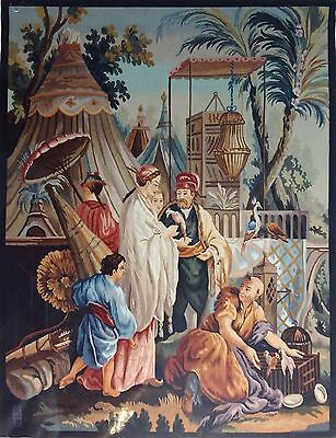 """Aubusson tapestry """"The Chinese fowler""""/Tapisserie Aubusson """"L'oiseleur chinois"""""""