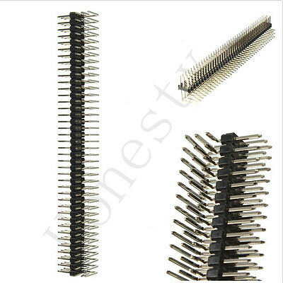 90 Degree 2.54mm 3x40P Male Pins Three Row Right Angle Pin Header Connector