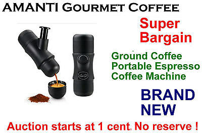 SUPER BARGAIN Portable Espresso Coffee Maker Machine Set + Bonus AMANTI Coffee