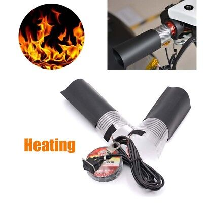 New universal Motorcycle E-bike Heated Hand Grips Handle Heater Warmer Kit