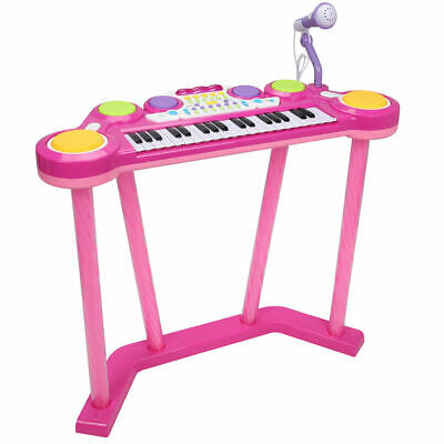 37 Key Electronic Keyboard Musical Piano Organ Drum Kids w/ Microphone MP3 Input