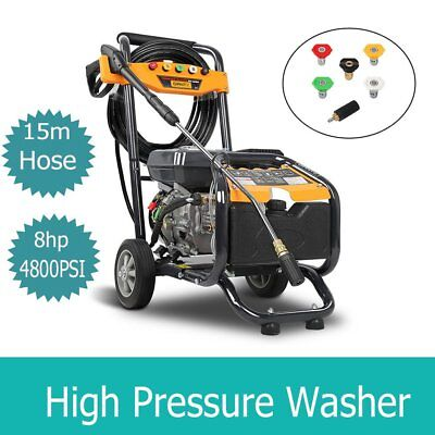 Giantz 8HP 4800PSI High Pressure Washer Cleaner Petrol Water Pump Gurney 15M NEW