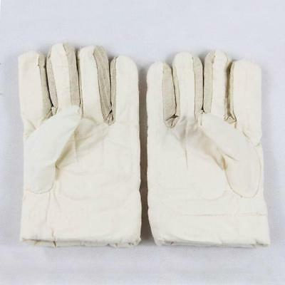 30cm Welding Protective Gloves Labor Safety Hands Cover for Worker -White
