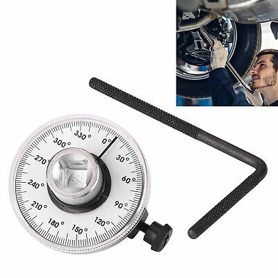 "1/2"" Drive Torque Wrench Angle Gauge Car Angle Rotation Ratchet Auto Garage Tool"
