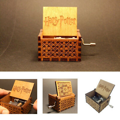 Harry Potter Music Box Engraved Wooden Music Box Interesting Toys Xmas Gifts AU
