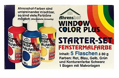 4X Neon Window Color Fenstermalfarben Farben Kreativ Glas Design Fenster