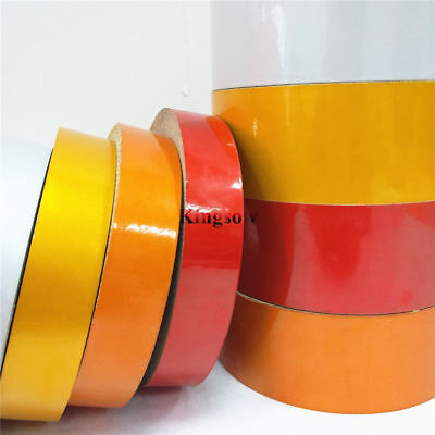 1-45M Safety Warning Reflective Tape Conspicuity Adhesive Sticker 25/50mm wide