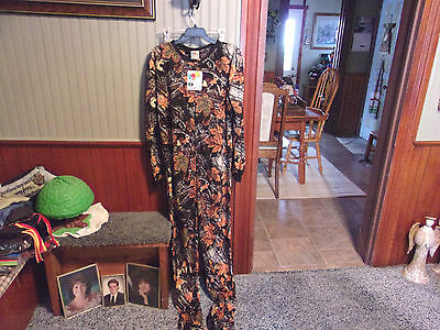 Fun Footies AF-PHOTO FOREST CAMO Footed Pajamas Jumpsuit Sleepwear Size L NWT